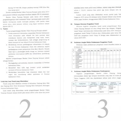 Rencana Pengembangan Bandar Udara Tanjung Harapan di Tanjung Selor